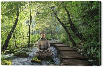 Leinwandbild Bouddha a Serenite