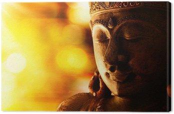 Leinwandbild Bronze Buddha-Statue
