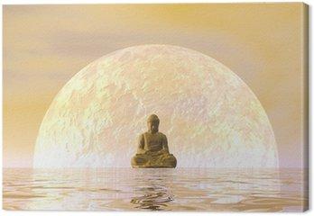 Leinwandbild Buddha Meditation - 3D übertragen
