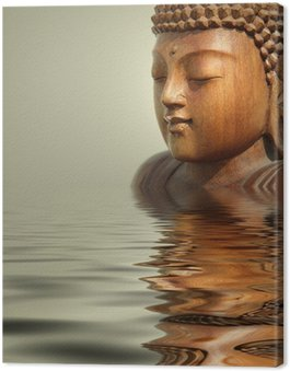 Leinwandbild Buddha wasser hintergrund