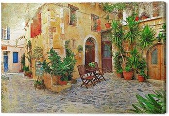 Leinwandbild Chania, Kreta alten charmanten Straßen