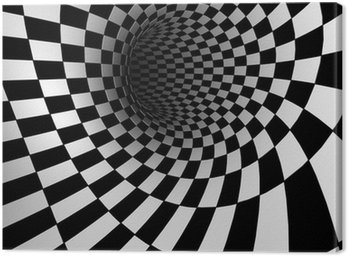 Leinwandbild Checkered Textur 3d Hintergrund