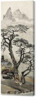 Leinwandbild Chinesische Landschaft mit einem Baum