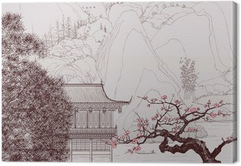 Leinwandbild Chinesische Landschaft