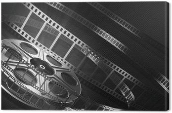 Leinwandbild Cinema film reel