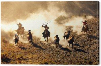 Leinwandbild Cowboy Genuss