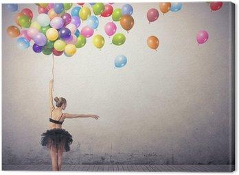 Leinwandbild Dancer mit Luftballons