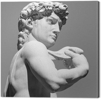 Leinwandbild David von Michelangelo - berühmten italienischen Renaissance-Skulptur,