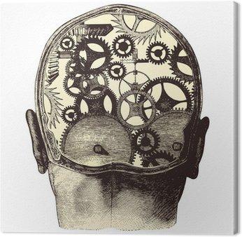 Leinwandbild Die mechanische Gehirn