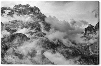 Leinwandbild Dolomiten Schwarzweiß