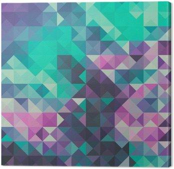 Leinwandbild Dreieck Hintergrund, grün und violett