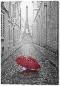 Leinwandbild Eiffelturm Blick von der Straße von Paris