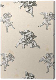 Leinwandbild Engel Muster - Muster gestrickt in die Muster-Box