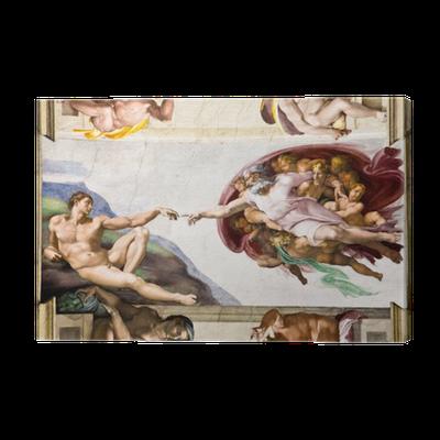 Leinwandbild Erschaffung Adams von Michelangelo Sixtinische