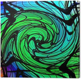 Leinwandbild Farbe swirl 3