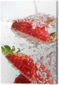 Leinwandbild Fizzy Erdbeeren