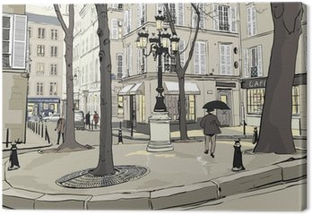 Leinwandbild Furstemberg square in paris