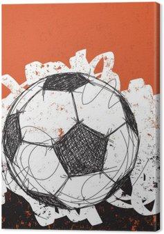 Leinwandbild Fußball Hintergrund
