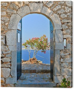 Leinwandbild Gate in Palamidi Festung, Nafplio, Griechenland