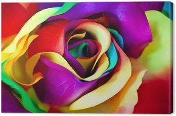 Leinwandbild Gefälschte Rose Blume