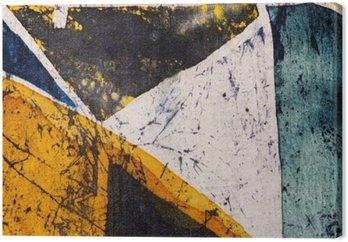 Leinwandbild Geometrie, heiße Batik, Hintergrund-Textur, Handarbeit auf Seide, abstrakten Surrealismus Kunst