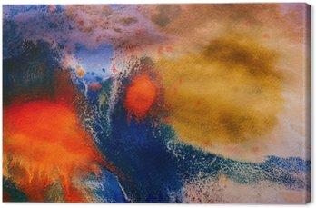 Leinwandbild Getrocknete Streifen von mehrfarbigen Farbe mit Rissen
