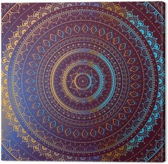 Leinwandbild Gold-Mandala. Indian dekorativen Muster.