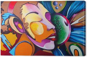 Leinwandbild Graffiti face
