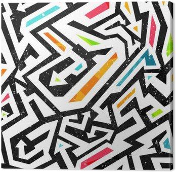 Leinwandbild Graffiti nahtlose Muster