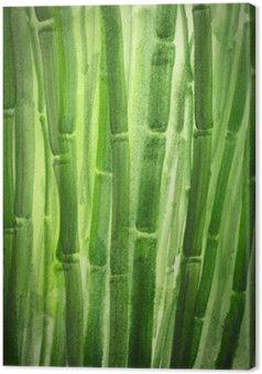 Leinwandbild Green Bamboo