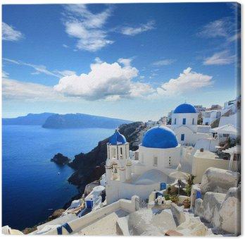 Leinwandbild Griechenland - Santorini (Oia Dorf)
