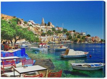 Leinwandbild Griechische Feiertage. Insel Symi