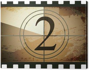 Leinwandbild Grunge film countdown