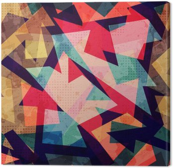 Leinwandbild Grunge geometrische nahtlose Muster