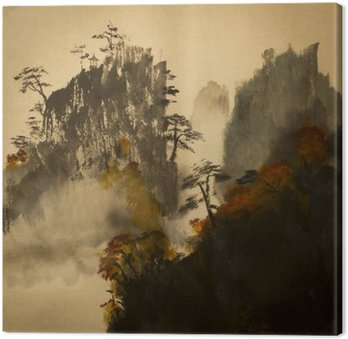 Leinwandbild Herbst in den Bergen von China