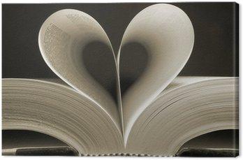 Leinwandbild Herzförmige Buch