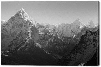 Leinwandbild Himalaya-Gebirge Schwarzweiß