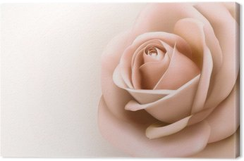 Leinwandbild Hintergrund mit schönen rosa Rose. Vector