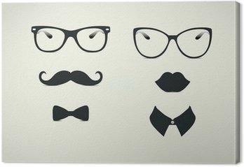 Leinwandbild Hipster Lady und Gentleman Icohs