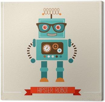 Leinwandbild Hipster Spielzeugroboter icon