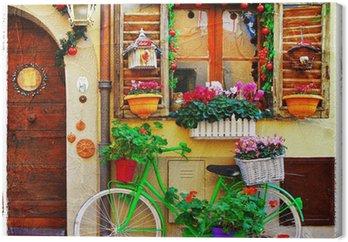 Leinwandbild Hübschen Straßen der kleinen italienischen Dörfern