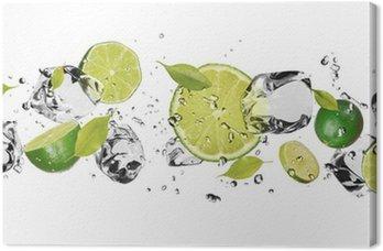 Leinwandbild Ice Obst auf weißem Hintergrund