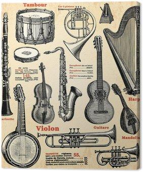 Leinwandbild Instruments de musique