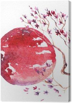 Leinwandbild Japan Kirschblüte.