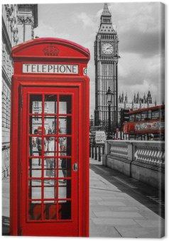 Leinwandbild Kabine Téléphone Londres