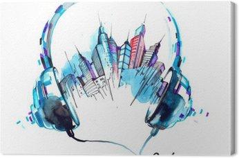 Leinwandbild Klänge der Stadt