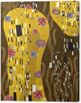 Leinwandbild Klimt inspiriert abstrakte Kunst