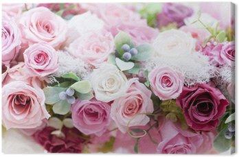 Leinwandbild Konservierte Rosen Rosen Rosa
