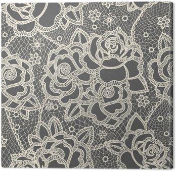 Leinwandbild Lace seamless pattern