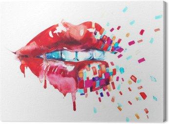 Leinwandbild Lippen